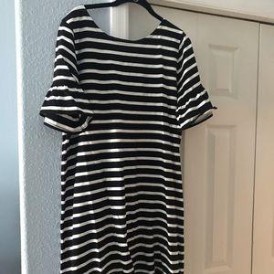 JCrew striped dress XL